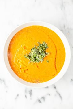 Roasted Heirloom Tomato Soup with Basil