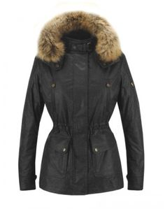 Matchless Notting Hill Lady Fur Collar Motorcycle Jacket Black