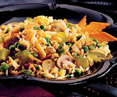 Vegitarian Fried Rice                    Transform fried rice from a side dish into a sumptuous meal by adding extra eggs and lots of vegetables.