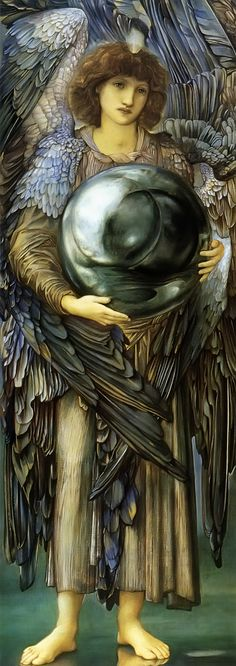 Edward Burne-Jones - (British Pre-Raphaelite Painter, 1833-1898) -- The First Day of Creation --Interesting --one angel creates the first day, two the second, three the third . . .  http://freechristimages.org/bible_artists/Edward_BurneJones.htm