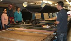 Behind the Scenes at Beckford Silk: Rob explains the printing process