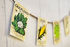 Love this seed packet bunting. Perfect for gardeners.