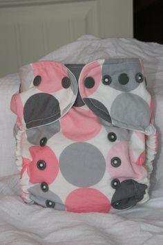 Organic Cotton Rockin Dots One Size Cloth Diaper Cover. $17.95, via Etsy.