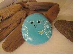 Sweet birdy heart - hand painted rock. $15.00, via Etsy.
