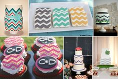 Desserts dessert, chevron stripes