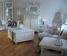 My living room.  from my blog: Passionate for White