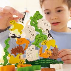 Animal Upon Animal (Tier auf Tier) - Wooden balancing toy from Haba