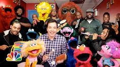 Jimmy Fallon, The Roots and the gang from Sesame Street perform the show's iconic theme song.