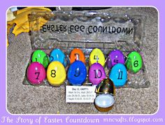 Fun Easter Countdown:  This one is WAAAAYYY simpler than the one from Missionary Mail...