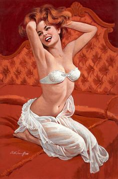 #pinup art by #ArthurSarnoff