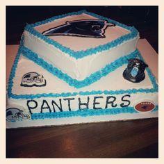 Carolina panthers cake I made