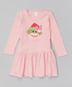 Love this Pink Sock Monkey Girl Santa Dress - Infant & Toddler by Petunia Petals on #zulily! #zulilyfinds