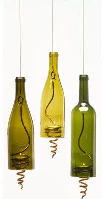 Upcycled Wine Bottles - love it!