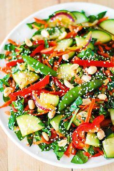 Crunchy Asian salad with peanut dressing by JuliasAlbum.com, via Flickr