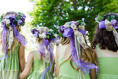crowned flower girls Photography By / http://traceybuyce.com
