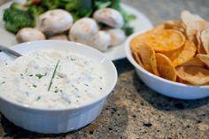 creamy greek yogurt blue cheese dip
