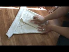 how to fold a flat diaper/kite fold