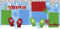 snowflak mitten, ribbons, christma scrapbook, scrapbook idea, crafti ideasscrapbook