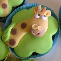 giraff cupcak, cute cake or cupcakes
