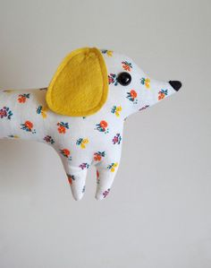 Marigold  the handmade plush dachshund - Limited Edition - made to order