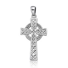Bling Jewelry Sterling Silver Celtic Cross Pendant