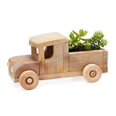 Look what I found at UncommonGoods: rustic truck succulent planter kit...