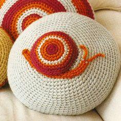 Crochet critter cushions by Kelli Ronci