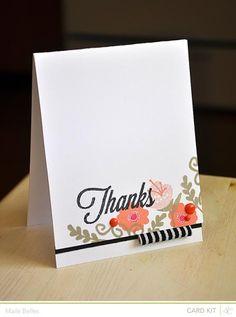 Thanks Card {Studio Calico September Kit}
