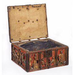 Tristan & Isolde Box  mid 1300s Northern European