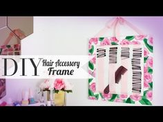 #DIY hair-accessory frame