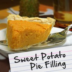 potato pie, pie fillings, sweet potato