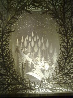 Stunning laser-cut paper window display