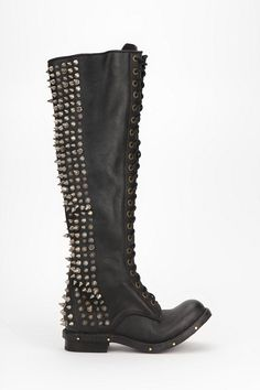 Bladz Lace-Up Spike-Stud Boot #urbanoutfitters #jeffreycampbell #spikes #studs