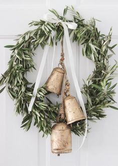 vintage bells wreath