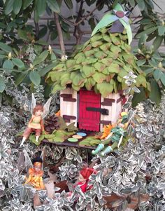 Okay - I have decided to make several versions of these little Craft Stick fairy houses while we are cooped up during the winter.  Keeps up the excitement of Spring!