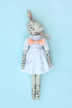 Spotted bunny doll by maiwenn philouze