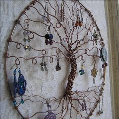 Earring Tree, Copper Tree of life, wall hanging, wall art, earring holder, . $125.00, via Etsy.
