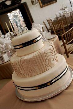 wedding favors, art deco wedding, wedding cakes, design blogs, black art, vintage art, art nouveau, cake toppers, deco cake