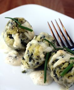 Baked Spinach-And-Goat-Cheese Dumplings