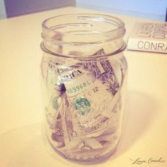SLIM TIP: Keep a Motivational Money Jar {put a dollar in every time you workout, then once you've reached your goal, treat yourself to a new top, pants, or even a spa pedicure} #fitness #weightloss