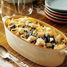 Baked Rigatoni with Ricotta and Greens