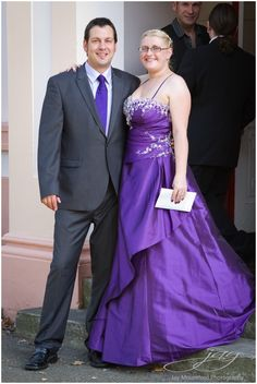 "AMAZING ""Cadbury"" purple wedding dress, with silver crystal embellishments"