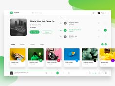 Spotify redesign by