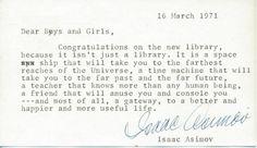 Isaac Asimov on libraries