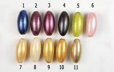 Compare and test various metallic acrylic paints on polymer clay. More at The Blue Bottle Tree.  #Polymer #Clay #Tutorials