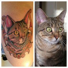 Realistic Cat Tattoo. LOVE!