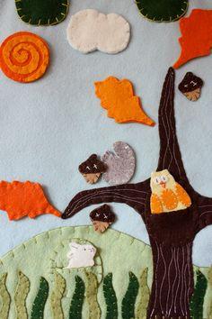 felt board - seasonal tree with wool felt.
