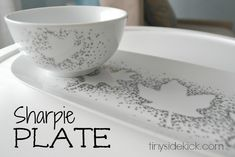 Sharpie Plate | How to Use Sharpie on Ceramic | Fall Decor