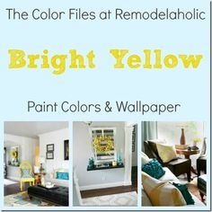 Bright yellow ideas