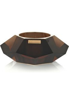 Burberry Prorsum Faceted perspex bangle | NET-A-PORTER